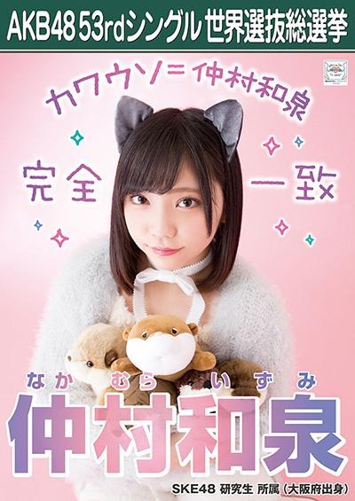 仲村和泉 AKB48 53rdシングル 世界選抜総選挙ポスター
