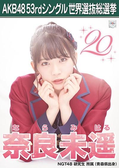 奈良未遥 AKB48 53rdシングル 世界選抜総選挙ポスター