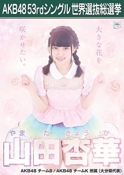 山田杏華 AKB48 53rdシングル 世界選抜総選挙ポスター