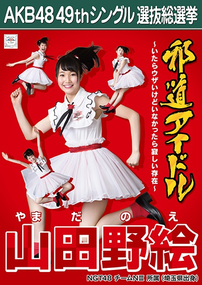 AKB48 49thシングル選抜総選挙ポスター 山田野絵