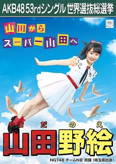 山田野絵 AKB48 53rdシングル 世界選抜総選挙ポスター